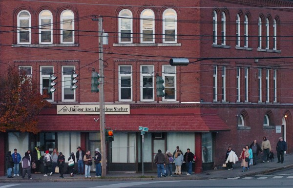 The Bangor Area Homeless Shelter on Main Street