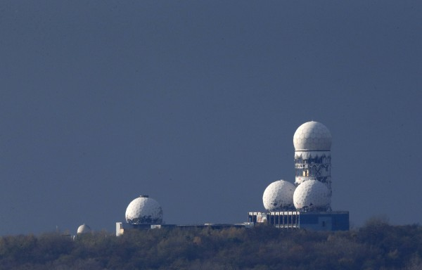 Antennas of the former National Security Agency listening station are seen at the Teufelsberg hill, or Devil's Mountain in Berlin, Nov. 5, 2013.