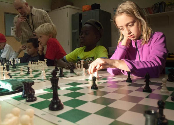 irst-grader Sofia Gironda plays chess for the first time during an after-school program at Fred P. Hall Elementary School. Volunteers at the Maine Chess Academy, which teaches chess to elementary students throughout Portland, are hoping to expand the group's work through a fundraising drive on Kickstarter.