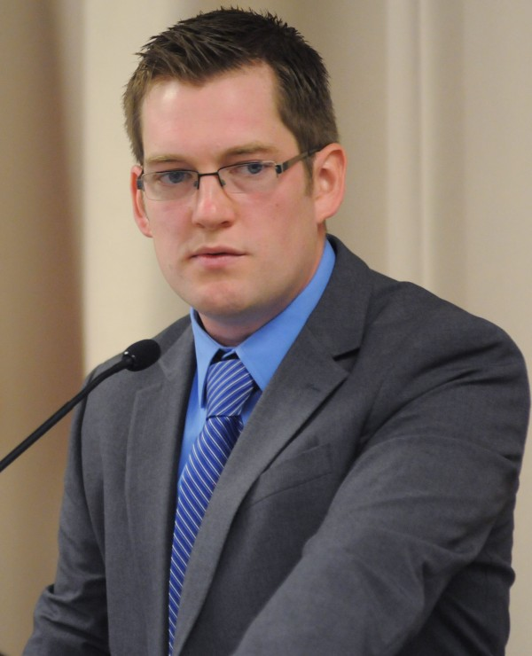 Ben Sprague was appointed City Council chairman at Bangor City Hall on Wednesday.