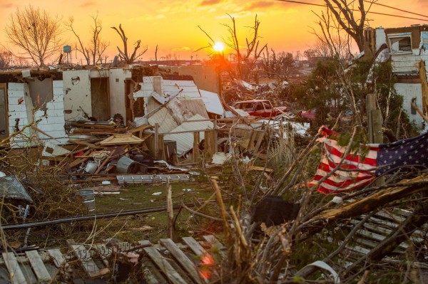 Washington, Ill., sits in ruins the morning after a severe tornado tore through the community, Nov. 18, 2013.