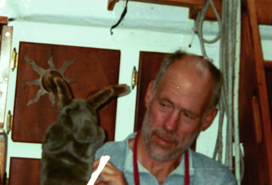 Wilson, a moose hand puppet, was one of the character that helped Bob Gause cope with the isolation when he sailed solo across the Atlantic about five years ago.