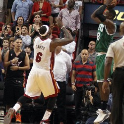James scores 37, rallies Heat by Celtics for 23rd straight win