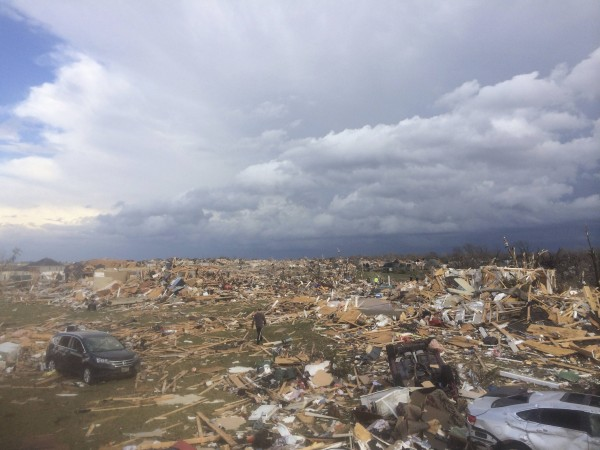 A tornado touched down in Washington, Ill., on Nov. 17, 2013, leaving extensive damage behind. At least five people were killed by storms in the Midwest on Sunday.