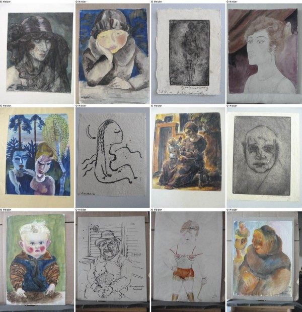 A combination of handout photos of a selection of artworks published on the German government website &quotLost Art&quot on November 12, 2013. Germany began publishing an online list of works that were discovered in a huge art stash in a Munich flat last year and believed for the most part to have been stolen or extorted by the Nazis.
