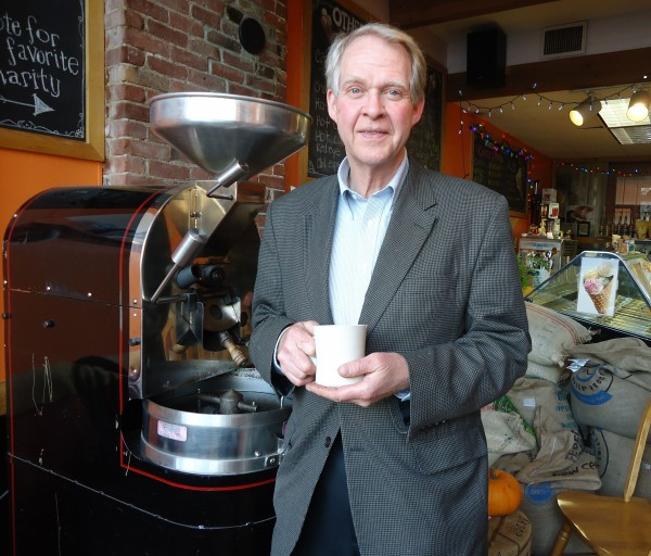 Brad McCurtain, owner of Others! Fair Trade Coffee in Portland, has stepped up to help Milo Lewis this week.
