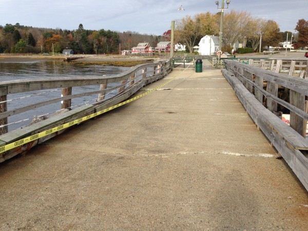 Searsport public wharf is in dire needs of repairs. Residents will vote this month on whether or not to fix it.