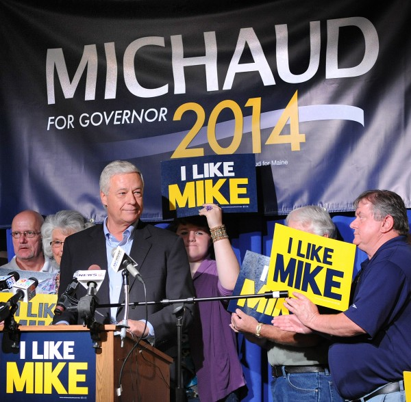 Rep. Mike Michaud officially announces his intention to run for governor of Maine at the Franco-American Heritage Center in Lewiston in 2013.