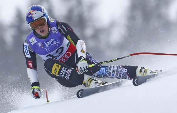 Lindsey Vonn of the U.S. competes in the women's Super G race at the World Alpine Skiing Championships in Schladming in this file photo taken February 5, 2013.