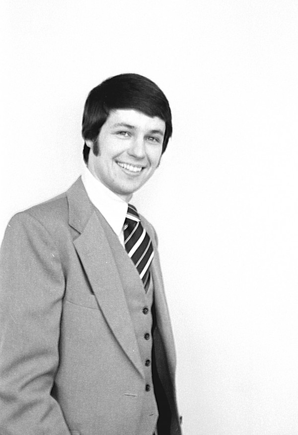 Michael Michaud as a candidate for the Maine Legislature in 1980.