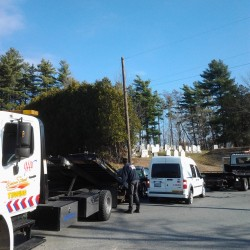 Accident backs up traffic on Route 1A in Holden
