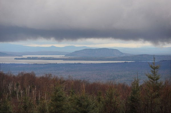 Mount Kineo can be seen in the distance in this shot from the side of Lily Bay Mountain on Thursday, Nov. 7, 2013. The Plum Creek conservation easement encompasses 363,000 acres, including all land seen here from the bottom of the frame up to the edge of Moosehead Lake.