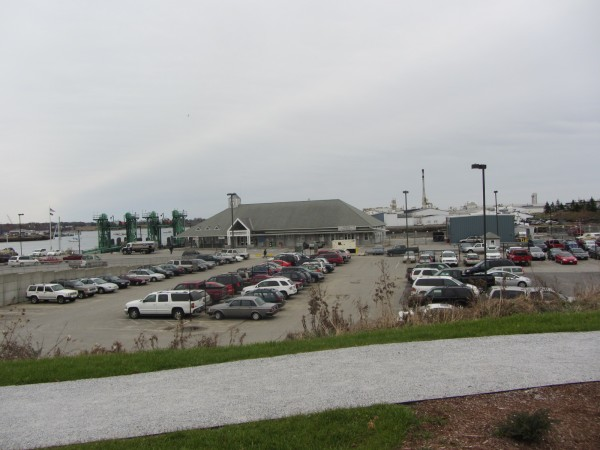 The Maine State Ferry Terminal, Lermond's Cove to the right and FMC (in the background) are all areas being added to the highest risk flood zone area based on draft maps from the Federal Emergency Management Agency.