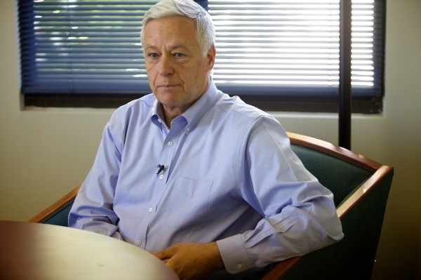U.S. Rep., D-Maine and candidate for governor, Mike Michaud speaks with the Bangor Daily News in Portland Monday about his decision to come out publicly as gay.