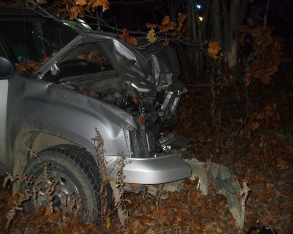 Police took this photograph of a truck that likely was totaled in a single-vehicle crash early Wednesday morning. The accident is under investigation.