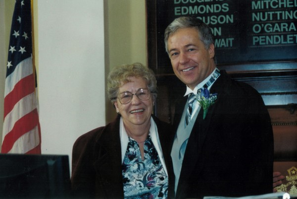 U.S. Rep. Mike Michaud with his mother, Geneva &quotJean&quot Michaud.