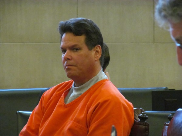 Dennis Dechaine, who is serving a life sentence in Maine State Prison for the 1988 murder of Sarah Cherry in Bowdoin, appears in Cumberland County Superior Court on November 7, 2013. Dechaine maintains that he is innocent of the crime.
