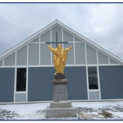 Religious statue vandalized in Jackman