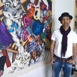 Iraqi-born painter's Portland exhibit delves into uneasy world of war's violence