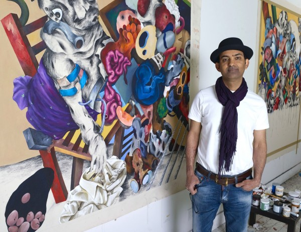 Iraqi artist and MECA graduate Ahmed Alsodani has a solo show at Portland Museum of Art called Redacted. The work of the Bagdad native who lived in Syria reflects the chaos of war.