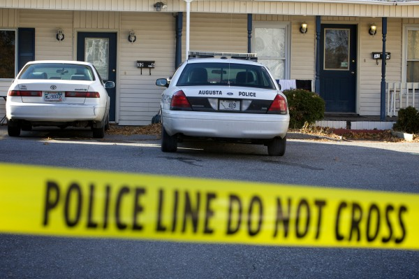 Police tape seals the driveway at an apartment complex on Crosby Street in Augusta Thursday where events transpired Wednesday night ending with the stabbing death of a 24-year-old woman.