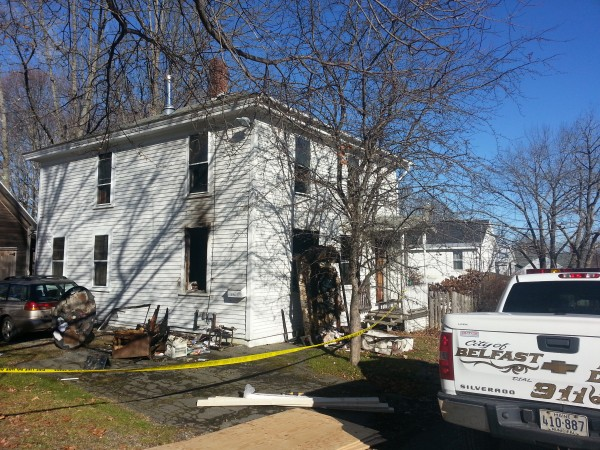 Chief Jim Richards of the Belfast Fire Department said that Pamela Callaway, in her 60s, was able to flee her burning Pearl Street home and seek help at her next-door neighbor's house.