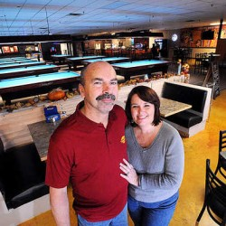 Dan and Melinda Small recently opened up Legends Sports Bar & Grill, a pool hall with a philanthropic twist, on Center Street in Auburn.