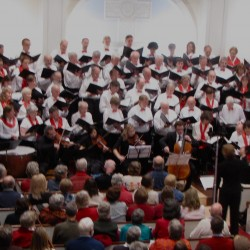 Bagaduce Chorale in the Blue Hill Congregational Church