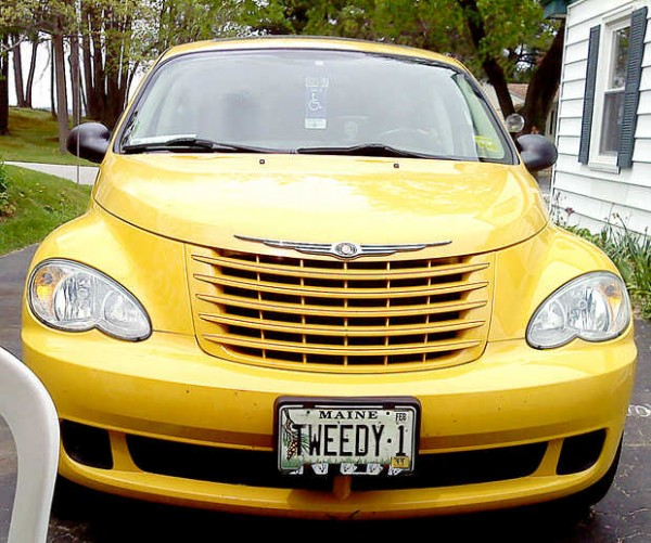 Dolores Gaboury's beloved 2006 PT Cruiser, nicknamed &quotTweedy bird.&quot The yellow bird has 227,407 miles and counting.