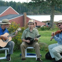 Frigate, one of Maine's most infectious contradance bands, at the Marsh River Theater in Brooks November 9.