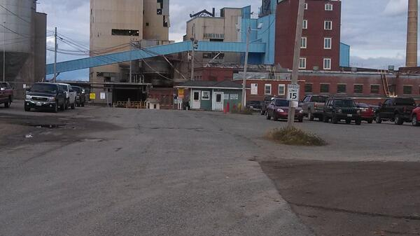 The Lincoln Paper Mill where the explosion occurred. No evidence is visible from the front.