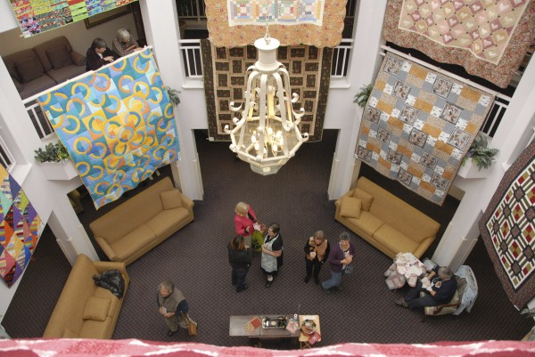More than 57 quilts displayed across three floors at Sunbury Village attracted people to the Bear Paw Quilt Show held on Oct. 26.