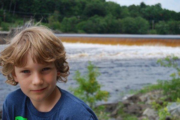Zane Baker with Penobscot River in background