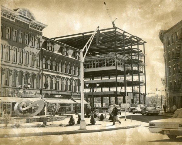 Merchants Bank under construction in 1972.