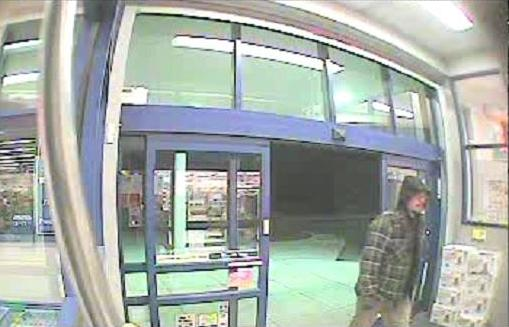 A surveillance photo of a man police say attempted to rob a Rite Aid pharmacy in Dexter on Monday evening. Anyone with information on the man is asked to call the Dexter Police Department.