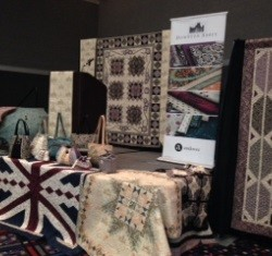 A selection of projects created from the Downton Abbey fabrics, on display this past October at International Quilt Market in Houston, Texas.   The Fabric Garden will be exhibiting some of the creations.