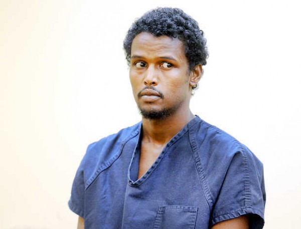 Mahad Hassan of Lewiston appears during his initial appearance at 8th District Court in Lewiston on Wednesday. Hassan is charged in connection with Tuesday night's stabbing of Abdi Bihi.