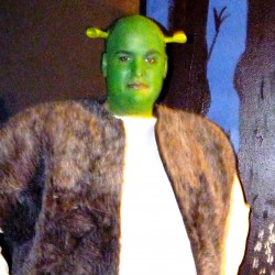 Shrek played by Roger Marcotte. Photo by Melissa Hearth.