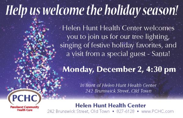 Tree Lighting at Helen Hunt Health Center