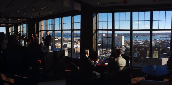 The view from Top of the East at Westin Portland Harborview Hotel.