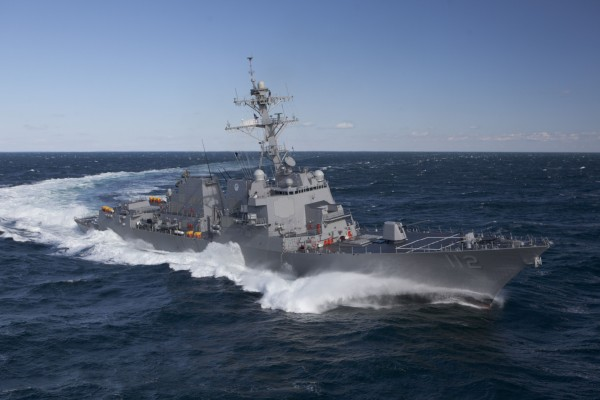 The Bath Iron Works-built USS Michael Murphy, an Arleigh Burke-class destroyer.