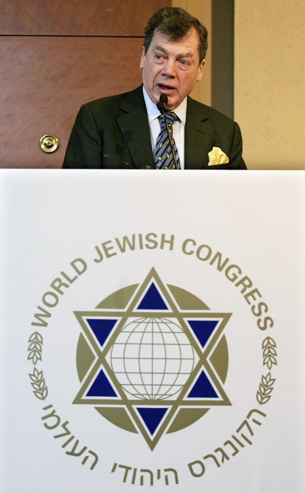 World Jewish Congress President Edgar Bronfman gives a speech during a plenary assembly in Brussels in this file photo from January 10, 2005. Montreal-born Bronfman, the chairman of the Seagram Company and long-serving president of the World Jewish Congress, died at his New York home December 21, 2013, aged 84.