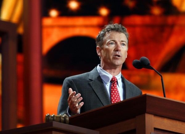 Rand Paul, U.S. Senator from Kentucky delivers his address at the Republican National Convention in Tampa, Florida, Wednesday, August 29, 2012. (