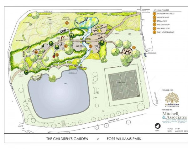 A rendering by Mitchell and Associates of the children's garden planned for Fort Williams Park in Cape Elizabeth.