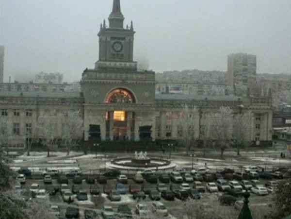 A still image taken from a CCTV footage shows fire breaking out after an explosion at a train station in Volgograd on Sunday. A suicide bomber blew herself up in the entrance hall of the Russian train station on Sunday, killing at least 14 people in the second deadly attack in the space of three days as the country prepares to host the Winter Olympics.