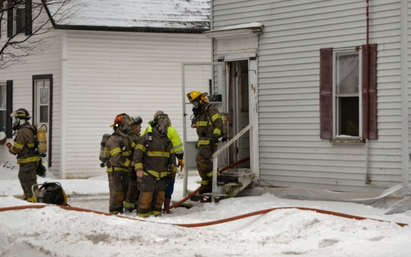 Fire crews from Newport, Corinna and Pittsfield responded to a fire at 99 Elm St. in Newport on Saturday morning. No one was injured.