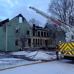 Fire destroys house in Plymouth