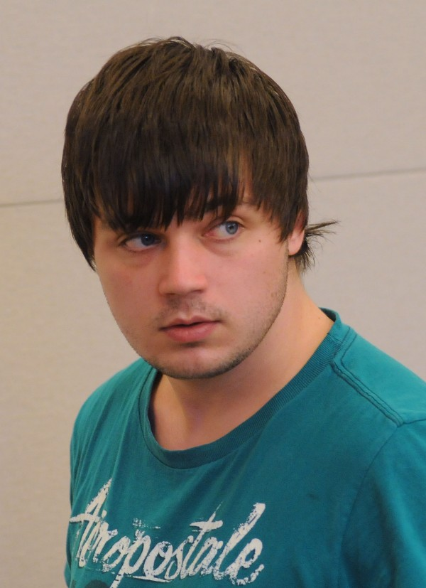 Zackery Mailloux , 21, of Bangor makes his initial appearance at the Penobscot Judicial Center in Bangor on Nov. 19, 2013.