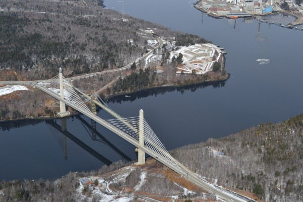 The Penobscot Narrows Bridge in February 2012.