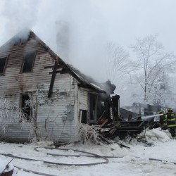 Fire marshal investigating Friendship fire that destroyed two small buildings